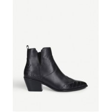 ALDO Mersey croc-embossed leather ankle boots Size 11 Trending SBA2WP3L
